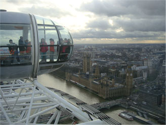 The London Eye is a great place to visit on a school trip to London